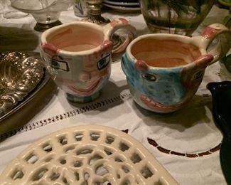 ITALIAN POTTERY CUPS