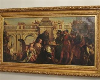 """""""The Conquest"""" Large 19th. C. Oil Painting after Paolo Veronese"""