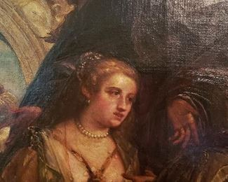 Detail,  Large 19th. C. Oil Painting after Paolo Veronese