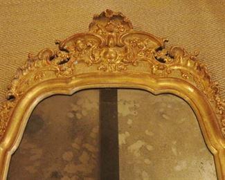 Detail,  Antique  Gilt Mirror.