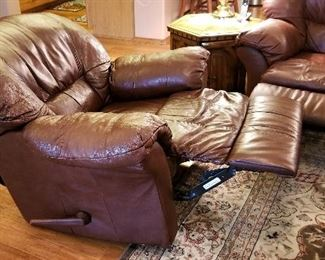 Reclining leather chairs