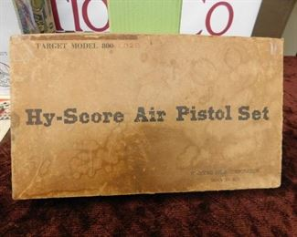 Old Hy-Score Pistol Set in Original Box