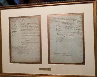 Signed document from Louis XVI December 26,1780
