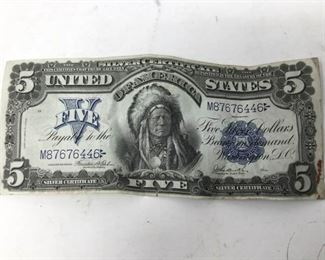 1899 $5 Indian Chief Note https://ctbids.com/#!/description/share/301949