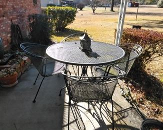 Five piece metal patio set