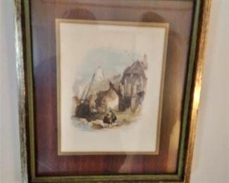 Vintage decor'  Framed print
