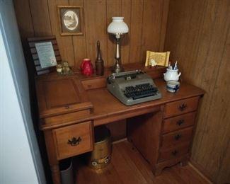 Open top all wood desk