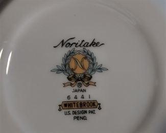 Complete Noritake White brook china set Japan