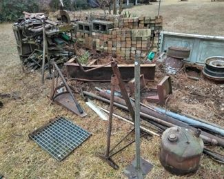 Iron and scrap pile
