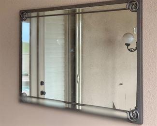 Outdoor Metal Frame Mirror30x44x2inHxWxD