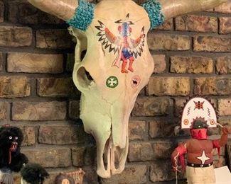 Gary Brinker Native American Cow Skull
