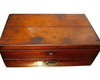 7. Wood Box with One Drawer