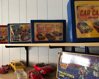 Car Case with 24 matchbox cars (like new)