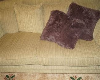 couch, pillows