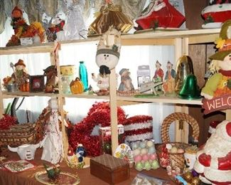 Santa and other decor