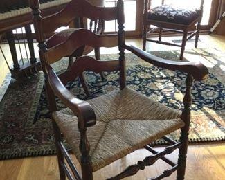 Ladder back vintage chair