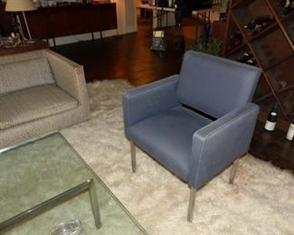 Chrome legs accent chairs