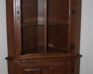"Tell City Andover Hard Rock Maple Corner Hutch.    (35""W x 70""H x 18"" Center Depth)"