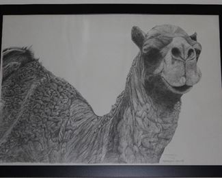 """Camel""  Framed and Numbered 17/88 Print 1977 by              Lou Ferreri (43 1/2"" x 31 1/2"")"