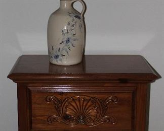 American Drew 2 Drawer Night Stand shown with Hand Painted Jug Lamp