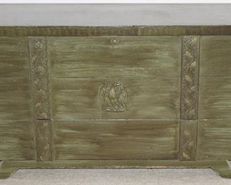 "Mid-Century Lane Cedar Chest with Antique Green Paint (45""W x 26""H x 18 1/4"")"