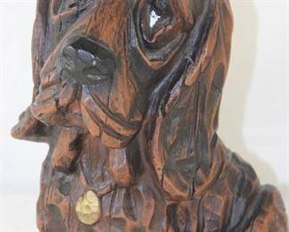"""Austin Statuary Co. Bassett Hound Statue c.1972 (10.5""""H)"""