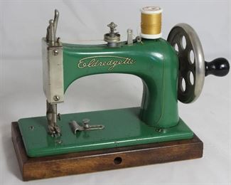 """Eldredgette"" Manufactured by National Sewing Machine Co. ""Just Like Mother's"" Vintage Child's Toy Sewing Machine"