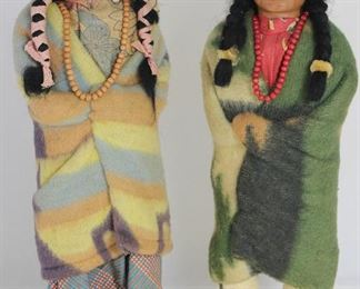 "Skookum Indian Dolls (16"") With Composition Heads (c. 1930-1940)"