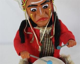 Alps Drumming Indian Battery Operated Toy c.1950's