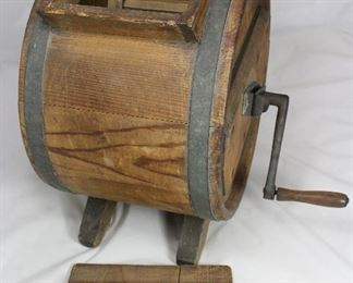 View of Previous:  Antique Wooden 19th-Century Hand Crank Butter Churn