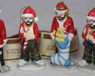 Flambro Emmett Kelly Collection Porcelain Clown Figurines/Ornaments