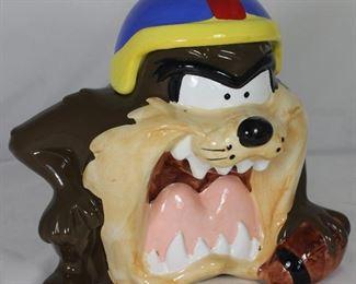 Looney Toons Warner Bros. Tasmanian Devil Ceramic  Cookie Jar 1993