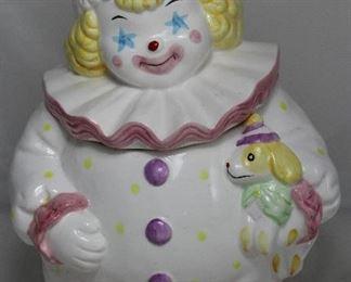 Vintage Ceramic Clown Cookie Jar
