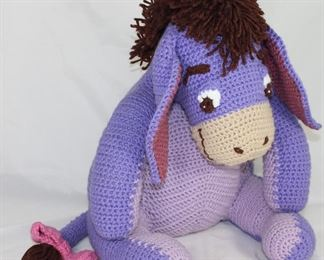 "Vintage Handmade Knit Eeyore  (16"")"