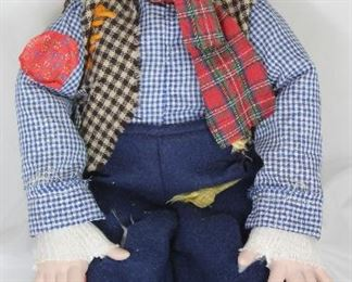 "Emmett Kelly Porcelain Clown Doll  (16"")"