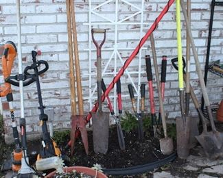Yard Tools: Weedeaters, Edgers, Post Hole Digger, Shobels, Hedge Trimmers, Limb Loppers, and more
