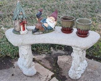 Garden Bench, Gnomes, Flower Pots, Planters and More!
