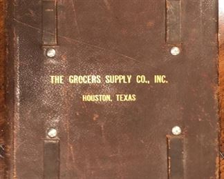 The Grocers Supply C. Inc. Houston Texas 1955 Leather Bound Grocery Supply Inventory List