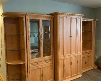 Wall unit for storage and display