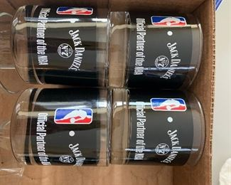 collectible jack daniels nba glasses