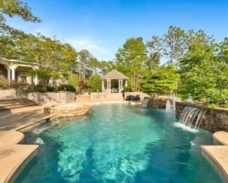 Pool and waterfalls