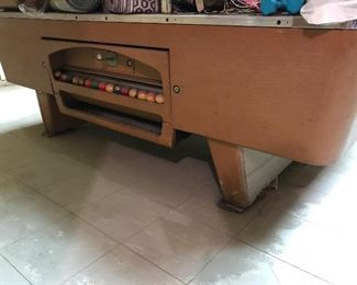 Vintage smaller format pool table