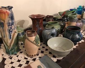 Really nice handmade pottery.