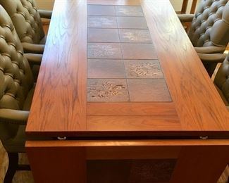Alternate view of MCM Mobler dining table