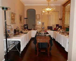 Entire ROOM of Sterling Flatware, Hollloware, and more