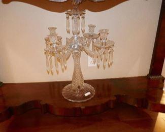 Grand OLD Crystal Candelabra