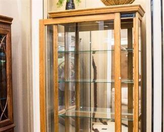 "Sliding door curio cabinet!  83"" x 39"""