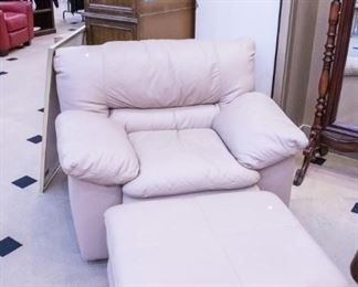 Leather chair and ottoman!