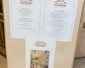 Restaurant menu for the Rotonde Beau-Rivage!
