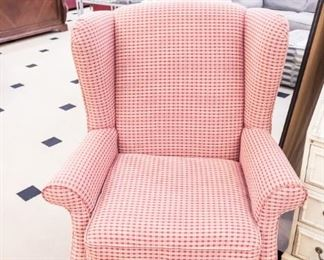 Decor-Rest Wing Back gingham chair!